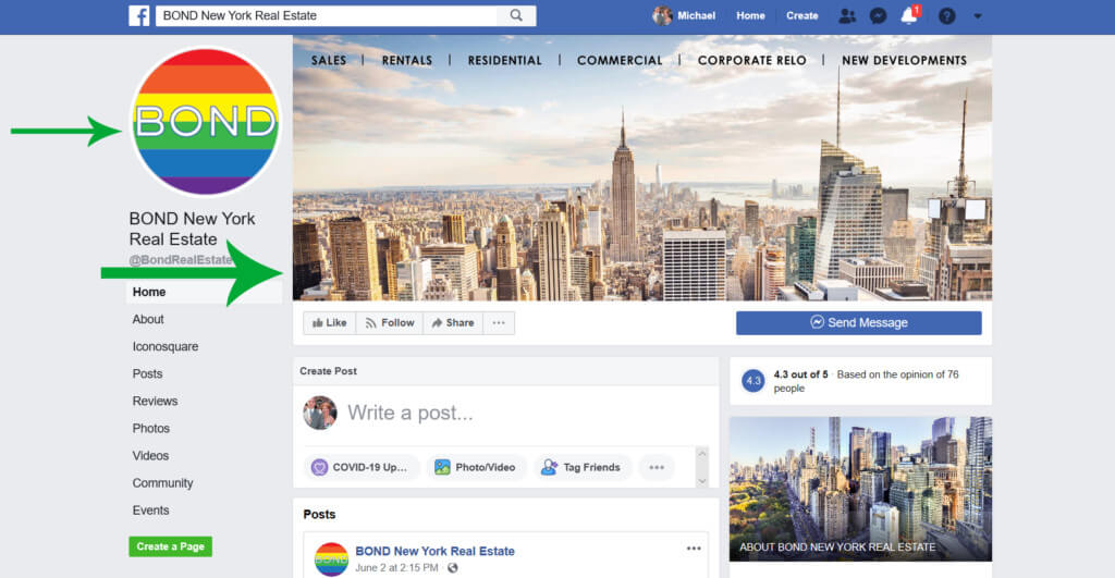 Business Facebook Page cover image